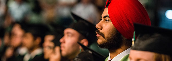 UFV student at his convocation ceremony